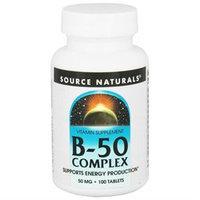 Source Naturals B-50 Complex - 50 mg - 100 Tablets