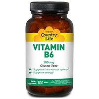 Country Life Vitamins Vitamin B-6 100 mg 100 Tablets, Country Life