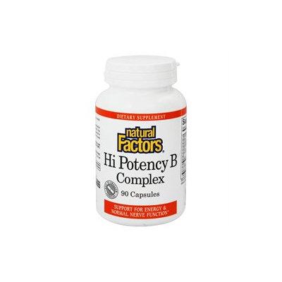 Natural Factors - Hi Potency B Complex - 90 Capsules