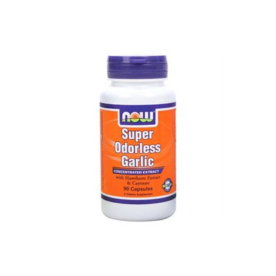 NOW Foods - Super Odorless Garlic - 90 Capsules