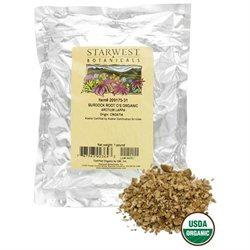 Starwest Botanicals - Bulk Burdock Root C/S Organic - 1 lb.