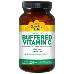 Country Life Vitamins Country Life Buffered Vitamin C - 1000 mg - 250 Tablets