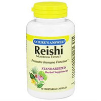 Frontier Nature's Answer Reishi Mushroom Extract - 60 Vegetarian Capsules