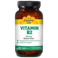 Vitamin B-2 100 Mg 100 Tab By Country Life Vitamins (1 Each)