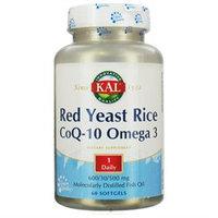 Kal Red Yeast Rice CoQ-10 Omega 3 - 60 Softgels