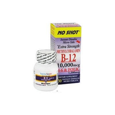 Superior Source - No Shot B12 Methylcobalamin Instant Dissolve 10000 mcg. - 30 Tablets
