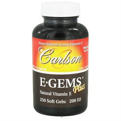 Carlson Laboratories E-Gems Plus Natural Vitamin E 200 IU - 250 Softgels - Vitamin E Complex