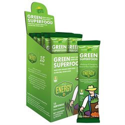 Amazing Grass - Green SuperFood Energy Drink Powder Lemon Lime - 15 Packets