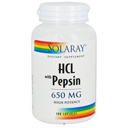 Solaray - HCL with Pepsin High Potency 650 mg. - 100 Capsules