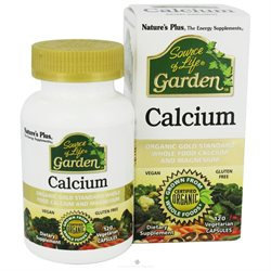 Nature's Plus Source of Life Garden Calcium, Vegetarian Capsules, 120 ea