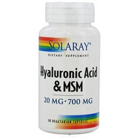 Solaray - Hyaluronic Acid & MSM - 30 Vegetarian Capsules