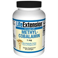 Life Extension Methylcobalamin 1mg, Lozenges, 60 ea