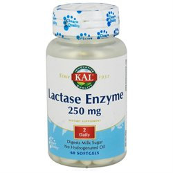 Kal Lactase Enzyme - 250 mg - 60 Softgels