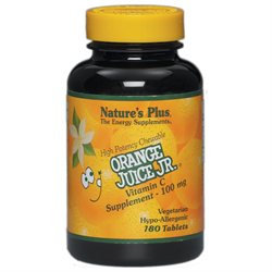 Nature's Plus Orange Juice Jr. 100 MG - 180 Chewable Tablets - Vitamin C