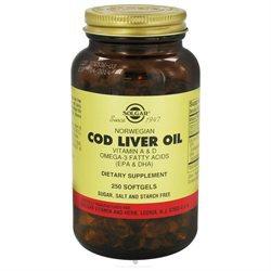Solgar - Norwegian Cod Liver Oil - 250 Softgels