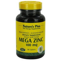 Nature's Plus Mega Zinc - 100 mg - 90 Tablets