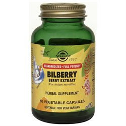 Solgar - Bilberry Berry Extract - 60 Vegetarian Capsules