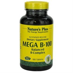 tures Plus Nature's Plus - Mega B-100 Sustained Release - 180 Tablets