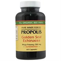 YS Royal Jelly/Honey Bee Propolis Goldenseal Echinacea 700MG - 60 Capsules - Bee Products