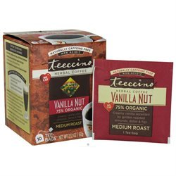 Teeccino Herbal Coffee Vanilla Nut - 10 Tea Bags