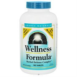 Source Naturals Wellness Formula, Tablets, 180 ea