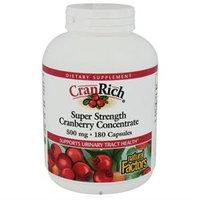 Natural Factors CranRich Super Strength Cranberry Concentrate - 500 mg - 180 Capsules