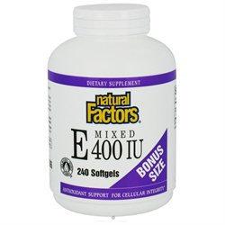Mixed Vitamin E 400 IU by Natural Factors - 240 Softgels