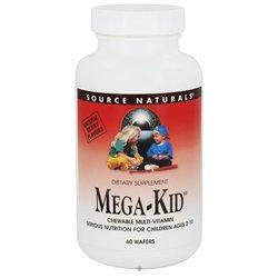 Source Naturals Mega-Kid Chewable Multi-Vitamin - 60 Wafers