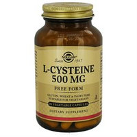 Solgar L-Cysteine - 500 mg - 90 Vegetable Capsules