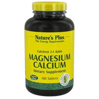 Nature's Plus Calcitron - 180 Tablets - Calcium Magnesium
