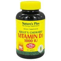 Nature's Plus - Adult S Vitamin D3 Chewable, 1000, 90 chewable tablets