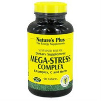 Nature's Plus - Mega-Stress Complex Sustained Release - 90 Tablets