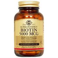 Solgar Biotin - 5000 mcg - 60 Vegetable Capsules