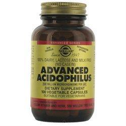 Solgar Advanced Acidophilus - 100 Vegetable Capsules