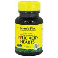 Nature's Plus Folic Acid Hearts - 90 Tablets