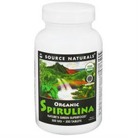 Source Naturals, Organic Spirulina 500 mg 200 Tablets