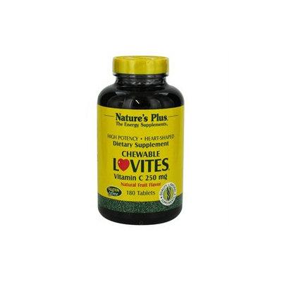 Nature's Plus - Lovites Chewable Vitamin C Fruit 250 mg. - 180 Chewable Tablets