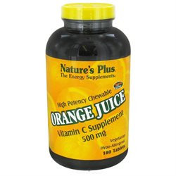 Nature's Plus Chewable Orange Juice Vitamin C - 500 mg - 180 Tablets