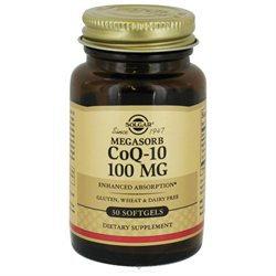 Solgar Megasorb CoQ-10 - 100 mg - 30 Softgels