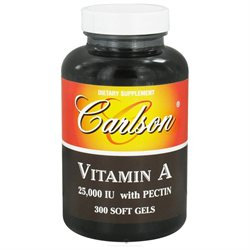 Carlson Laboratories - Emulsified Vitamin A, 25,000 IU, 300 softgels [Vinyl]
