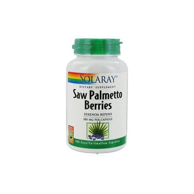 Solaray Saw Palmetto Berries - 580 mg - 180 Capsules