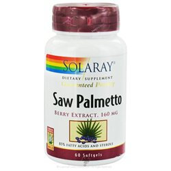 Solaray Saw Palmetto Berry Extract - 160 mg - 60 Softgels