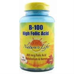Nature's Life B-100 High Folic Acid - 100 Capsules