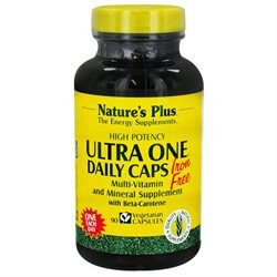 Nature's Plus - Ultra One Daily Caps Iron-Free - 90 Vegetarian Capsules