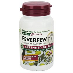 Nature's Plus - Herbal Actives Extended Release Feverfew 500 mg. - 60 Tablets