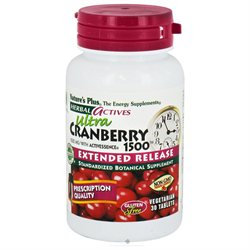 Nature's Plus Herbal Actives Ultra Cranberry 1500 - 30 Tablets