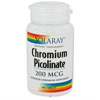 Solaray Chromium Picolinate - 200 mcg - 100 Tablets
