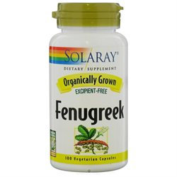 Solaray Organic Fenugreek Seed 620mg - 100 Capsules