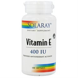 Solaray Vitamin E - 400 IU - 100 Softgels