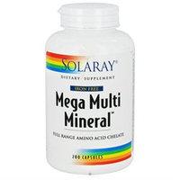 Solaray Mega Multi Mineral W/O Iron - 200 Capsules - Multiminerals